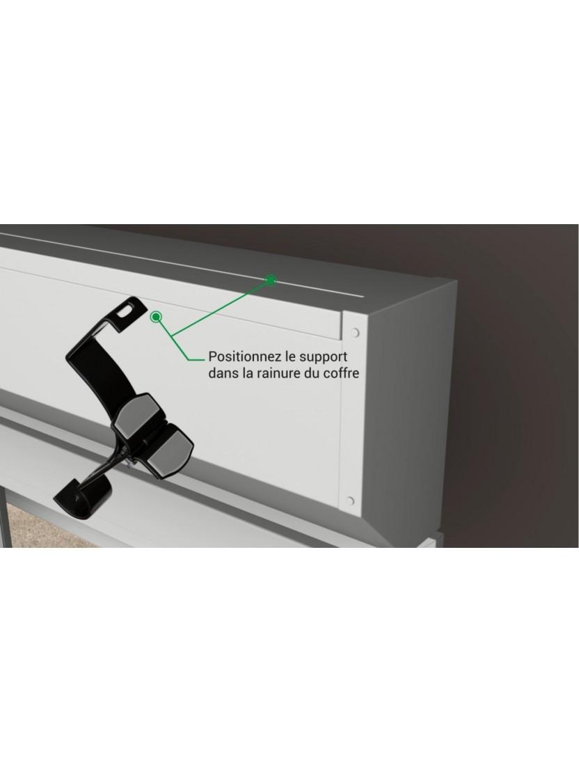 Tringle Rideau Sans Percer 2 supports sans perÇage pour tringle À rideaux Ø 20mm - noozika