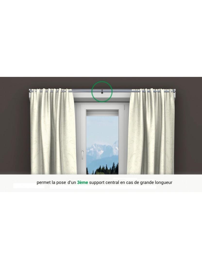 2 supports sans per age pour tringle rideaux 20mm noozika - Support rideau sans percage ...