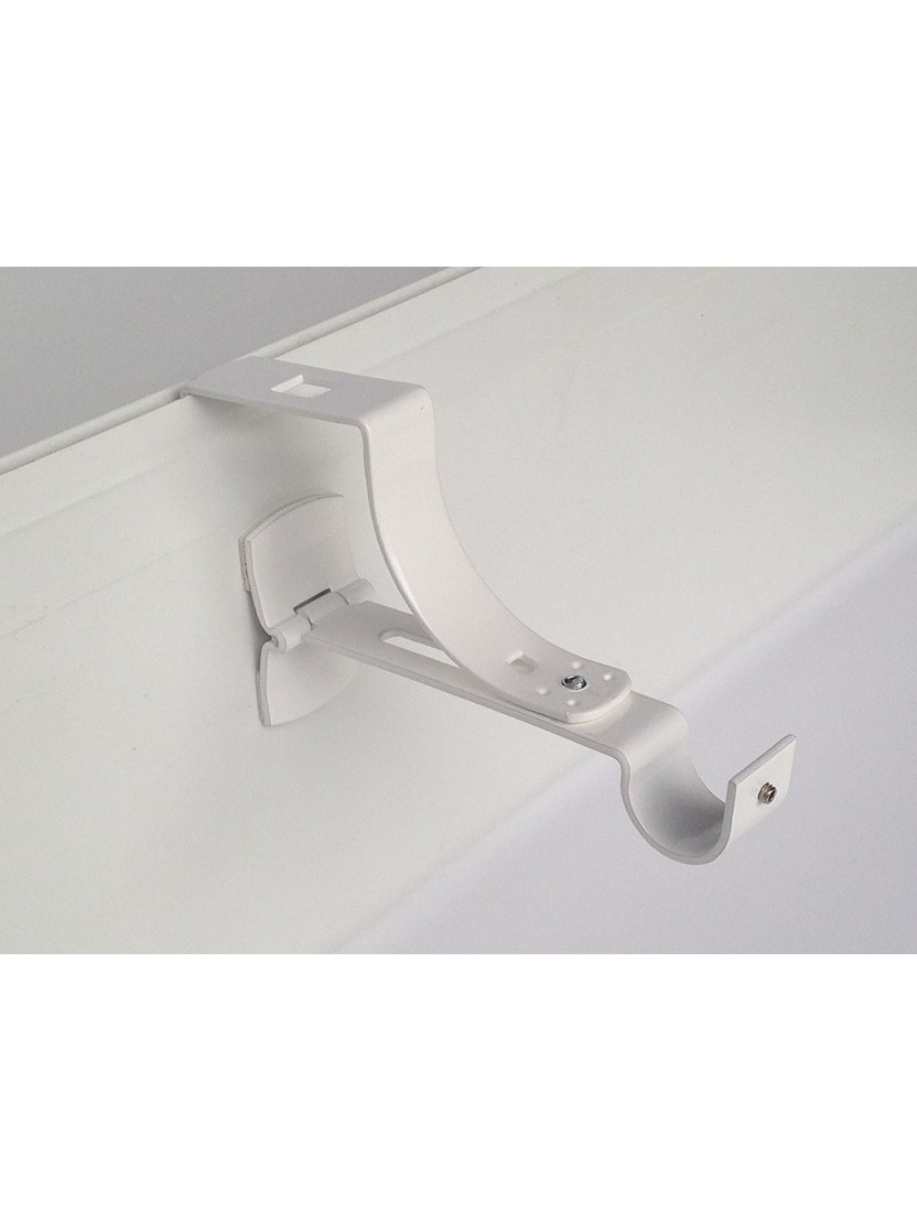 2 supports sans per age pour tringle rideaux 20mm. Black Bedroom Furniture Sets. Home Design Ideas