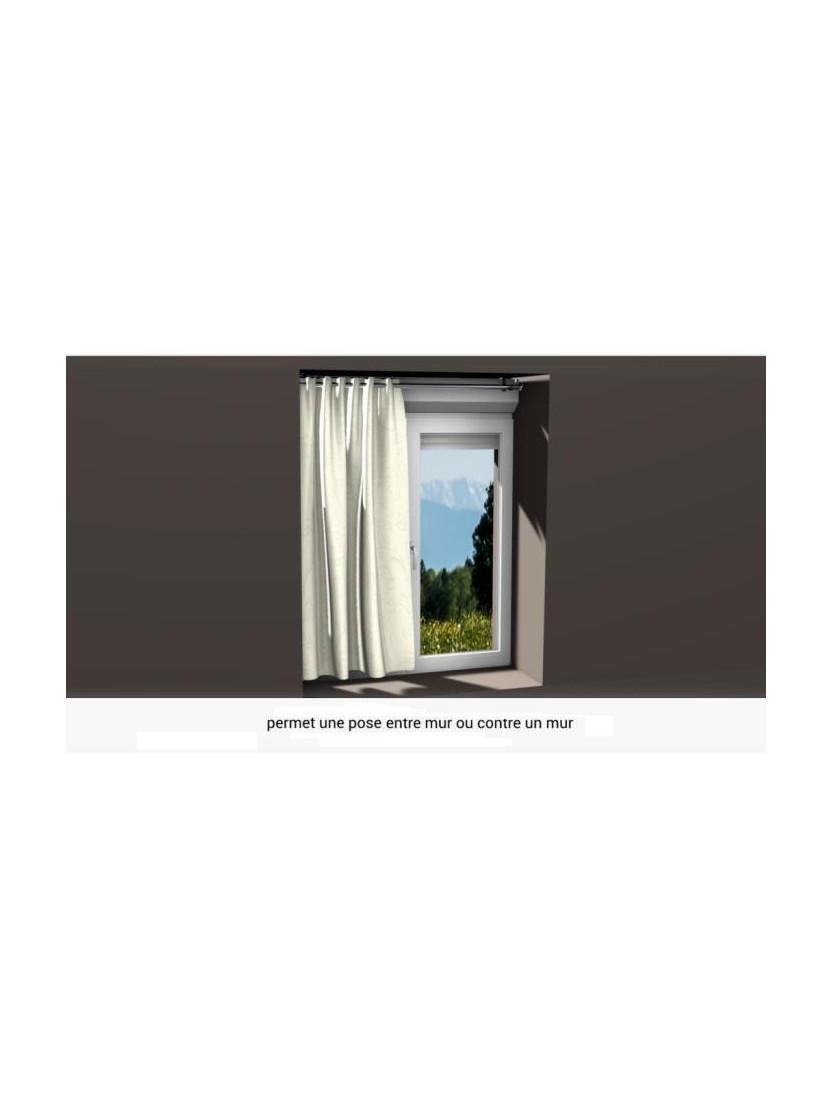 2 supports sans per age pour tringle rideaux 28mm noozika - Tringle a rideaux sans percage ...