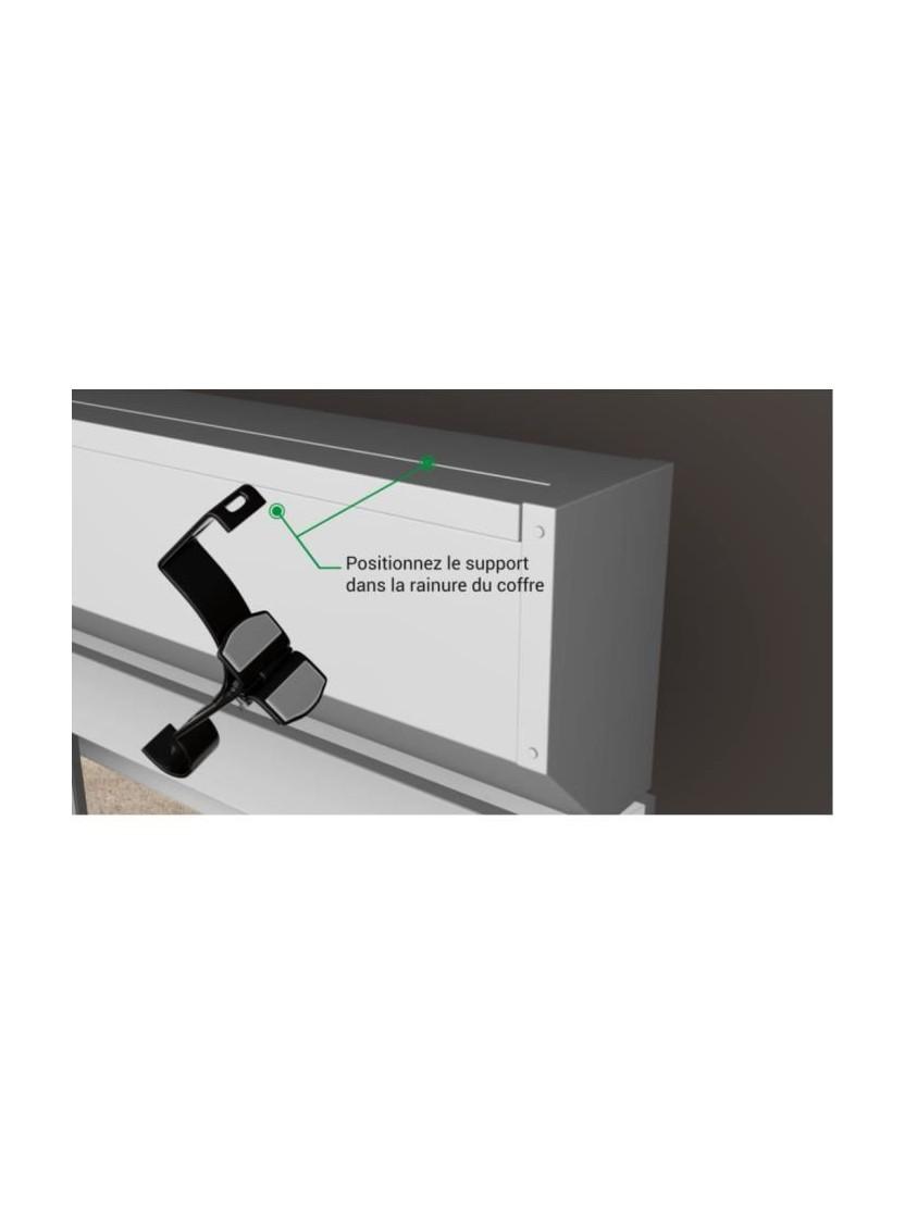 Poser Des Tringles À Rideaux Avec Coffre Volet Roulant 2 supports sans perÇage pour tringle À rideaux Ø 20mm - noozika